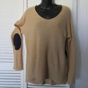 GAP camel sweater with elbow patches medium